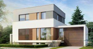 Дом два этажа с плоской крышей